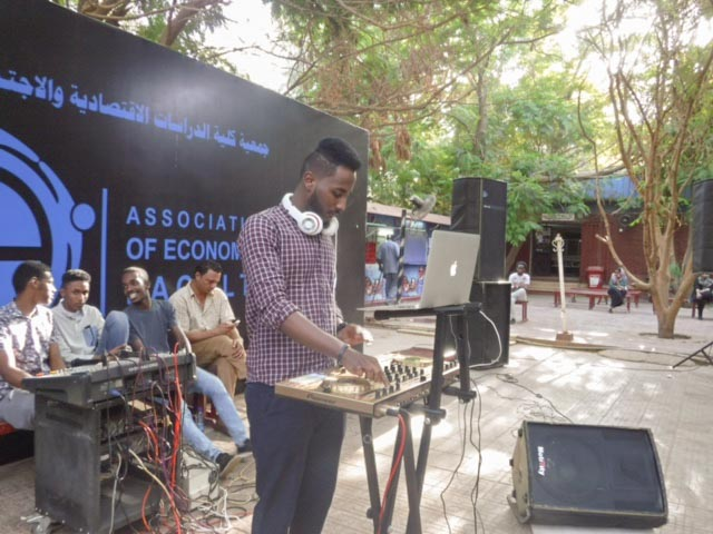 DJ performed playing nice music encouraging the participants