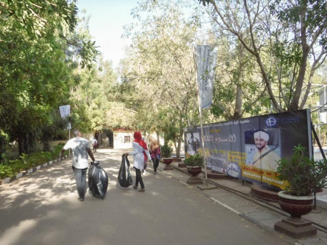 5 team participated and picked up garbage in the campus.