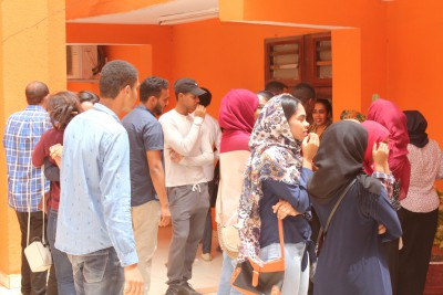 Students anxiously waiting their results