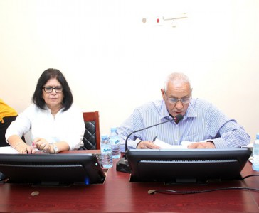 Prof. Hassan Mohamed Ahmed, President & Chairman & Director of Academic Affairs Ms Asma Wakil