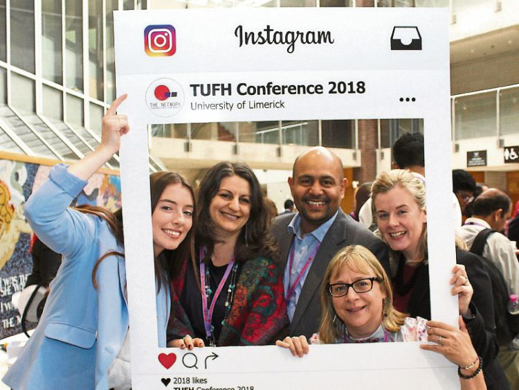 UMST-GN4_DAT_10269521.jpg--holly_english_of_the_shannon_region_conference_and_sports_bureau__dr_anca_minescu__dr_khalifa_elmusharaf__deborah_tudge_and_noreen_o_malley_picture__zoe_conway_ilovelimerick